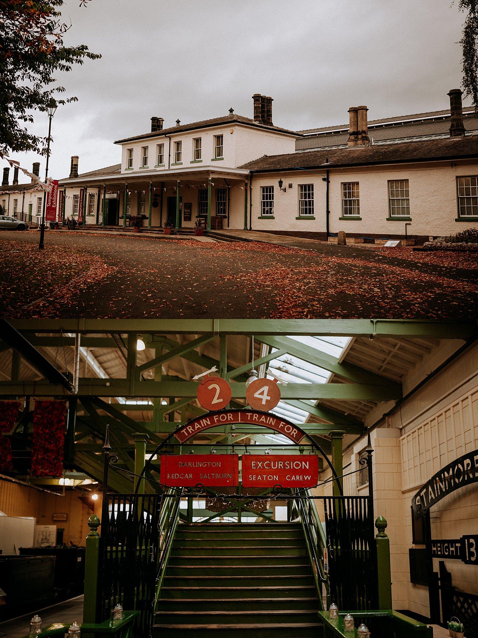 Retro Inspired Steam Railway Museum Wedding