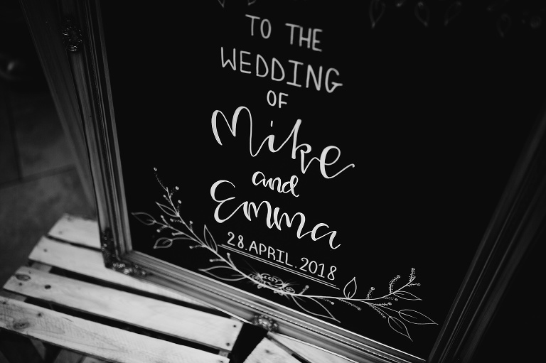 Headlam Hall Summer Wedding Photographer Sign