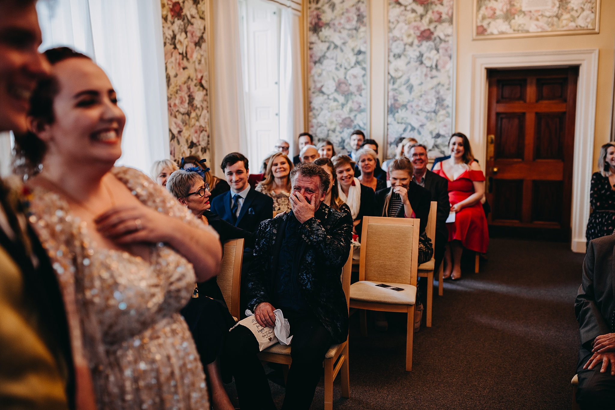 Peter Hugo Photography father of the bride wedding ceremony reaction